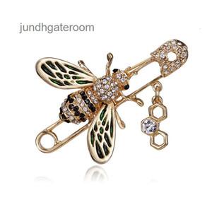 Top Brand Designer Bee Spilla femminile femminile 2019 Rhinestone Pearl Luxury Spilla Badge Badge Brand Gioielli Accessori per ladies