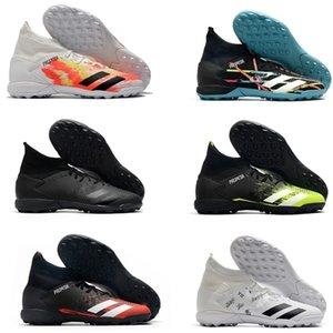 Mens Hohe Ankle Boots Fußballschuhe Predator Mutator 20.3 TF Innen Leder Laceless Trainer Turf Socken Fußball Klampen US6.5-11
