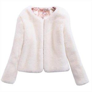 womens fur coat female Winter coat Leather faux fur artificial jackets for women Rabbit Fur Large size plush 5XL