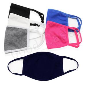 Designers Máscara Unisex Algodão Cara da forma Cor Dust-proof sólido reutilizável face Covers Ciclismo Proteção Boca-de mufla Máscaras DHL F102008