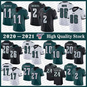 11 Carson Wentz PhiladelphiaEagle Football Jersey 86 Zach Ertz 2 Jalen Hurts 26 Miles Sanders Fletcher Cox Alshon Jeffery Brian Dawkins