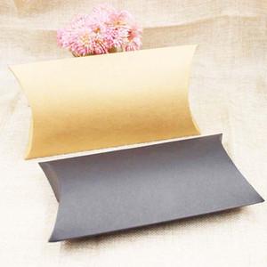 Zeronge joyería del papel de caramelo caja de embalaje de regalo almohada de pantalla Black Box Kraft productos de cartón de embalaje de costes extra buzón personalizado sweet07 bbyRgC