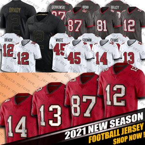 Tom Brady Jersey 13 Mike Evans Jerseys 87 Rob Gronkowski Jersey 14 Chris Godwin Jerseys 45 Devin Branco 81 Antonio Brown Football Jerseys