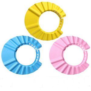 Bebek Ürünleri Bebek Çocuk Çocuk Güvenli Şampuan Banyo Banyo Duş Cap Şapka Yıkama Saç Shield ayarlanabilir elastik Şampuan Cap Banyo Siperlik Şapkalar