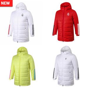 20 21 Real Madrid Ajax de algodón con capucha suéter de peligro chándal de fútbol de fútbol RONALDO invierno arrope trajes de viento