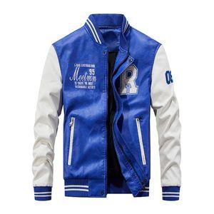 Mens Baseball cuir veste Bomber College Jackets Veste Jaune Noir Rouge Jaune Jeune Letterman Varsity manteau en cuir