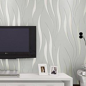 Фото обоев Современных 3D Stereo Волнистых полосы Обои Гостиной TV Диван Спальня Home Decor Водонепроницаемые самоклеющиеся наклейки 201009