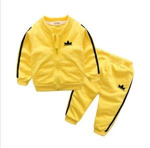 Bebê infantil Suit Vestuário para meninos e meninas Esportes Boys And Girls Crianças Estilo New Baby de manga curta Roupas Crianças Set