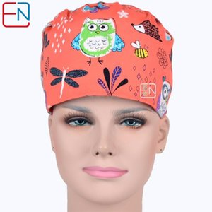 Women scrub Caps Masks High Quality Red Cartoon Print Scrub Caps Clinic 2 sizes for choice