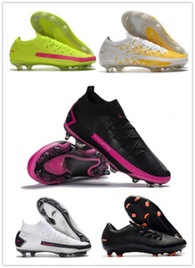 New Phantom GT Elite FG-PRO Daybreak White Pink Blast Black Metallic Silver X Chile Red Football Boots Cleats Mens FG Outdoor Soccer Shoes
