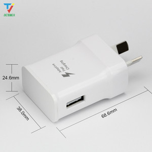 100pcs lot High Quality 5V 2A Adaptive Fast quick Charging Charger Adapter AU plug for Samsung s6 s7 S8 Plus edge no logo 9V 1.67A