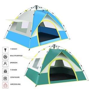 Tenda da campeggio impermeabile antivento portatile Immediata la tenda per 2 persona rampicante d'escursione esterno di viaggio Multi-Purpose