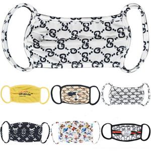 Хлопок лица Кнопка Holder роскошь с Headbands Solid Color Mask широкий дизайнер Упругие ленты для волос Тюрбан маски рот хлопка для взрослых женщин # 2090