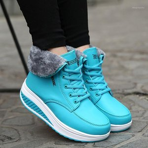New Women Boots Platform Women Shoes Plush Warm Snow Boots Female Winter Sneakers Booties Women's1