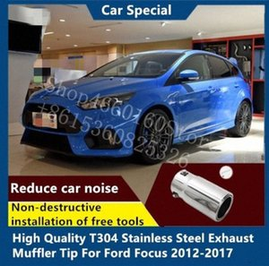 Puou High Quality T304 Stainless Steel Exhaust Muffler Tip For Focus 2012-2017 WZca#