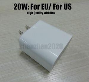 DHL USB-Wandladegerät 18W 20W Netzteil Schnellladegerät USB zum Typ C Ladegerät US EU-Plug FAST LAGEN für Smartphone