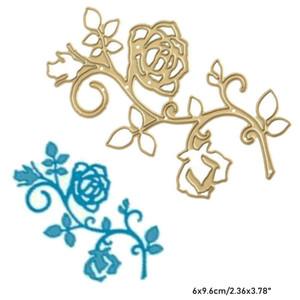 Rose Flower Vine Cutting Dies Metal Stencil DIY Scrapbook Card Album Paper Embossing Die Cut Decor Art Plant
