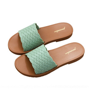 lJRY Rouroliu Home Linen Women Bowknot Slippers Outdoor 2020 Flip Flops Summer New Breathable fashion Shoes Non-Slip