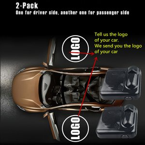 2Pcs Car Door Logo Welcome Lamp Laser Light Universal Wireless Projector Light Atmosphere Car LED Ambient Decoration Light