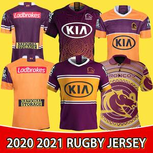 2021 Nova Brisbane Broncos Rugby Jersey Brisbane Broncos Anzac 2020 Homens Indígenas Jerseys Austrália Nrl Rugby League Jersey Tamanho S-5XL