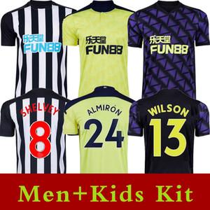 2020 2021 по Тайне Сороки Новые футбольные трикотажки Уилсон Шелви Ласкаллы Ritchie United Футбольная футболка Мужчины Детский комплект Униформа