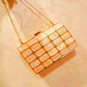 Golden bag female 2020 new crystal diamond dinner banquet holding one shoulder messenger small square bag trendy fashion clutch bag