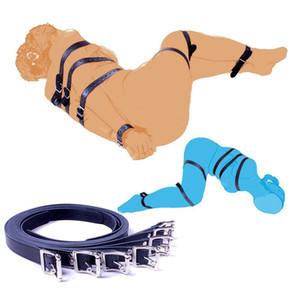 الأزواج 7PCS أنثى الجسم تسخير الجنس قيود عبودية حزام اليد الساق BDSM لعب متجر الكبار جلدية للللنساء الجنس فو Y200616 Wivls