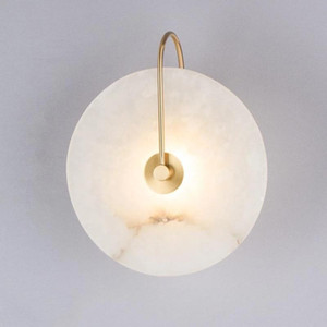 Modern Copper Sconce Lamp Wall Light Marble abajur LED Lighting Fixture Para Casa Decor Quarto Lâmpadas