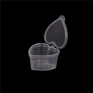 100 / серия 50мл Heart Shape Контейнер для хранения Организатор Box с крышкой для Playdough Слизь Mud Light Clay Горячая продажа