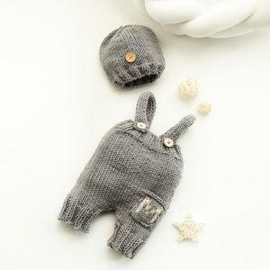 Recién nacido Fotografía Props Crothet Baby Ropa Boy Clothing Boys Accesorios Infant Girl Costume CHOCHETED Hecho a mano Traje Q1222