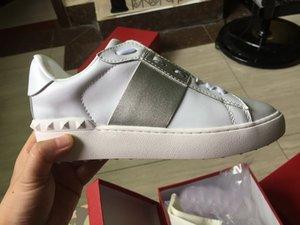 Branded Moda Lover Designer Rock Stud Sapatilhas Sapatos Mulheres, Homens Moda Casual Sapatos Rock Runner Trainer Flats Shoes