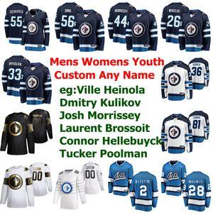 Winnipeg Jets Jersey del hockey Cole Perfetti Jersey Patrik Laine Neal PionkIce Marcos Scheifele Tucker Poolman Dustin BYFUGLIEN cosido personalizada