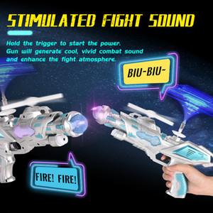 sonido pistola de juguete del coche LED viento DISCO luz del arma de juguete deformación ametralladora de las muchachas de los niños juguetes