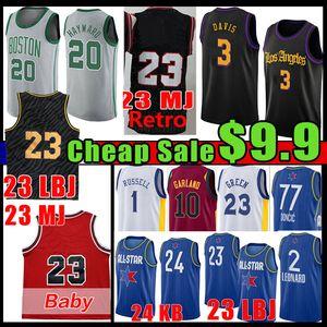 23 Männer Baby Basketball Jersey Luka 77 d'Angelo Gordon Russell Doncic Kawhi Hayward Anthony 3 Davis Leonard Lonzo Draymond Girlande Green Ball