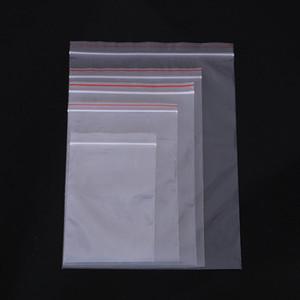 1 حقيبة 10wire سمك واضح الذاتي ختم أكياس التغليف البلاستيكية Ziplock PE أكياس سستة
