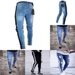0JQT Ummewalo Skull Stampato Jeans per Jeans Casual Slim Dritto Jeans Designer Designer Pantaloni rossi Uomo Marca Stampa Etnica Mens