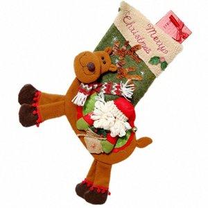Bmby-Christmas Stocking Bolsas de regalo Decoraciones de Navidad para el hogar Año Nuevo Regalos Bolso Navidad Calcetines Natal Árbol Decoración Presenta L7ZB #