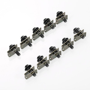 10pcs 5mm Aluminium Motorcycle M5 Fairing Bolts Set Fastener Clips Screw Nuts Kit car