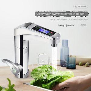 Pantalla digital Hot Instant Digital Grifo de agua caliente y calentador de agua fría Cocina Hogar