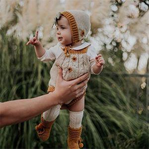 Enkelibb Bella bella Bambino Autunno Inverno Inverno Categoria Pagliaccetto Baby Boys And Girls Abbigliamento invernale Rainbow Daisy Onesie Wild Wawa 201127