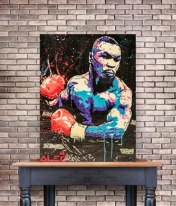 Alec Boxe Mike Tyson Poster Prints Graffiti Street Art Canvas Oil Painting Abstract Wall Art Pictures para sala Decoração Casa Moderna