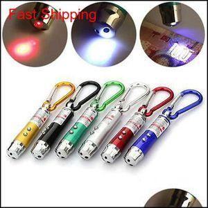 3 em 1 Multifuncional Mini Laser Light Pointer UV LED Torch Lanterna Keychain Caneta Chaveiro Chaveiro Lanternas ZZA994 QMHZZ OXY8H