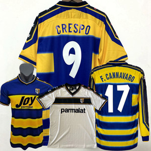 Retro Classic 1998 1999 2000 2002 2003 Parma Soccer Jerseys F.CanNavaro Crespo Nakata Retro Camisa de Fútbol