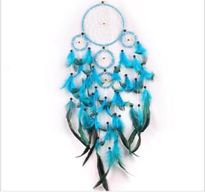 Big Dreamcatchers Wind Chime Net Hoops mit 5 Ringe Traumfänger für Auto-Wand-Hängen Plaint Ornaments Dekoration Fertigkeit Freies Verschiffen