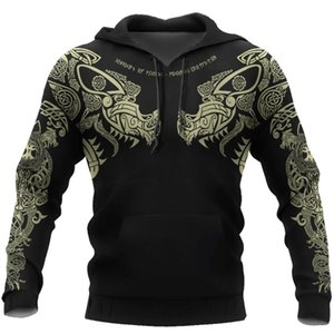 New Viking Tattoo 3D Printed Men hoodies Harajuku Fashion Hooded Sweatshirt Autumn Unisex Street hoodie sudadera hombre 201021