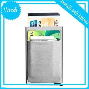 Credit Card holder Case Aluminium with elasticity Back Pocket Rfid Dunne Metals Wallet cases Id Cardholder