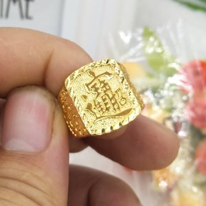 The Main Reason for This Change Is to Better. Open Vietnam Placer Gold Ring Mens No Color Fading Copper Plated 24k999 Lucky Fortune