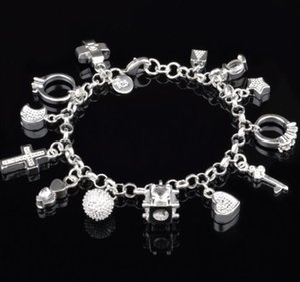 Toptan Kaplama 925 Gümüş 13 Kolye Bilezik Moda Kadın Basit Aksesuarlar En İyi Arkadaşının Doğum Günü Mevcut Mark 925