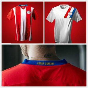 NOUVEAU 2020 PARAGUAY SOCCER JERSEYS 20 21 RÉPUBLIQUE DE L'ÉQUIPE NATIONALE DE LA RÉPUBLIÈRE DU PARAGUAY HOMME Camiseta de Fútbol Hommes Chemise de football Adulte Uniforme