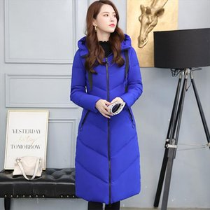 Women X long Hooded Bakery Oversize Winter Down Coat Student Thick Warm Jacket Cotton Padded Wadded Parkas Big Pocket